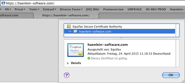 1+1 Verschlimmbesserung nach SSL Zertifikat Bereitstellung ...